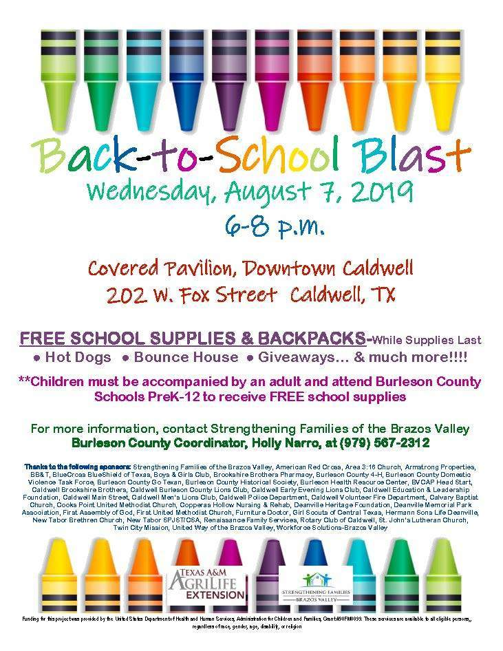 Poster for free school supplies