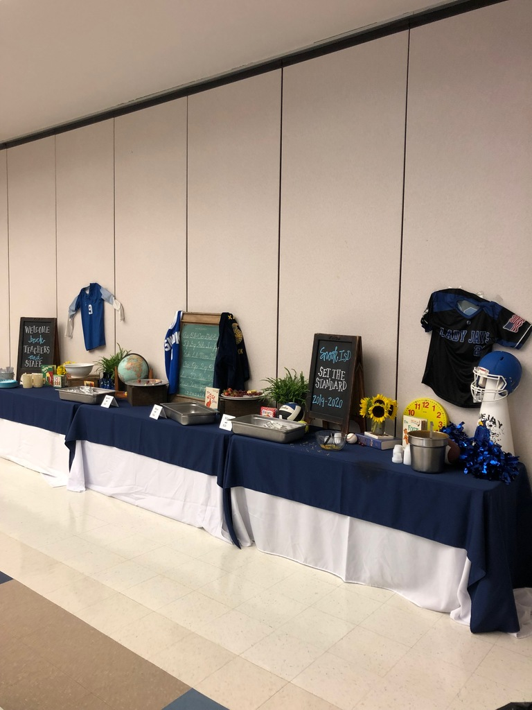 Table setup from Snook ISD PTO for teachers welcome back