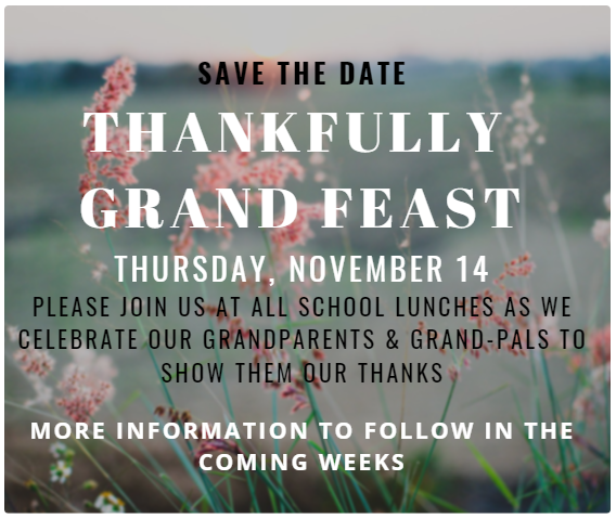Save the Date Thankfully Grand Feast November 14