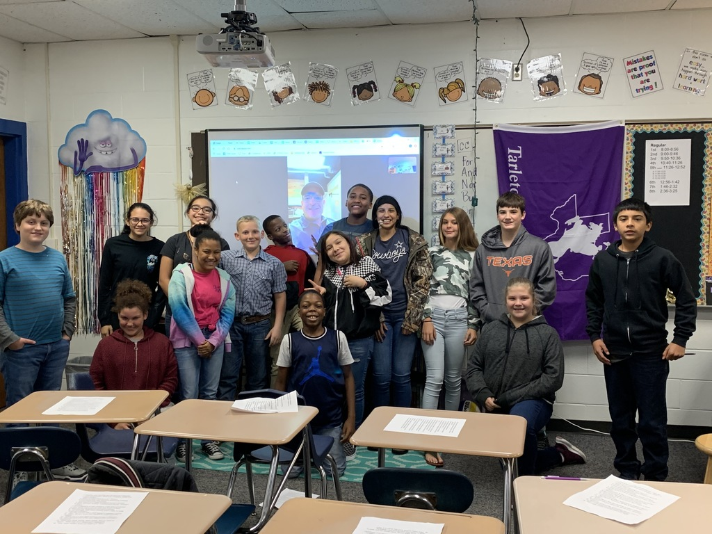 Coach Chambers's 7th grade careers class has been studying architecture, construction, and business. Last Friday, they got to write questions and interview Coach Chambers's dad, who owns a construction company, via video chat.  Our 7th graders came up with some great questions and enjoyed the opportunity! Big thanks to Mr. Chambers for volunteering his time!1