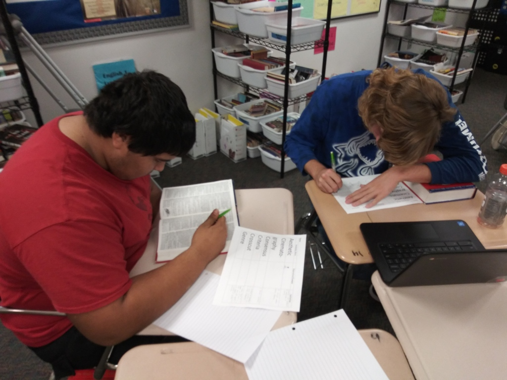 Seniors are working hard to become college and career ready in the College Prep ELA class.1