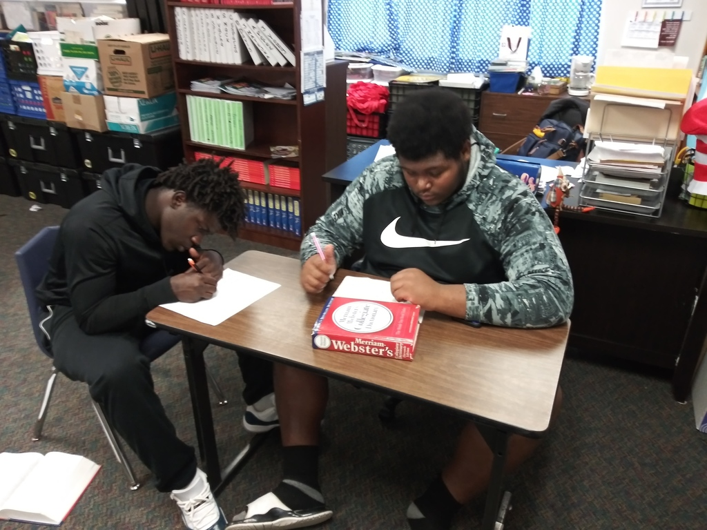 Seniors are working hard to become college and career ready in the College Prep ELA class.2