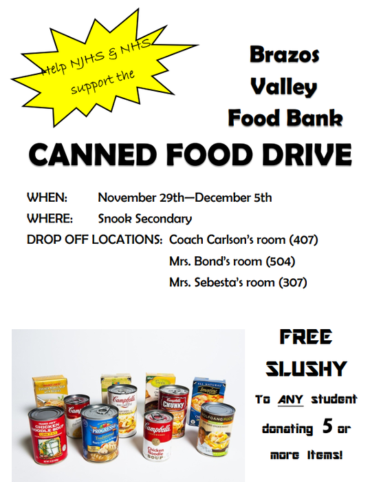 Brazos Valley Food Back Canned Food Drive