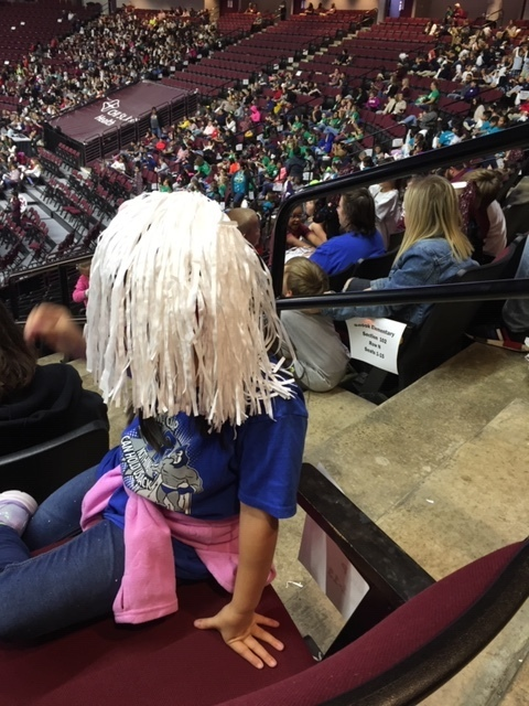 Elementary students attended the Lady Aggie Basketball game for their Fall Incentive Trip.