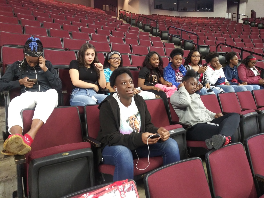 LIT enjoying some Aggie womens basketball courtesy of Aggie Athletics!