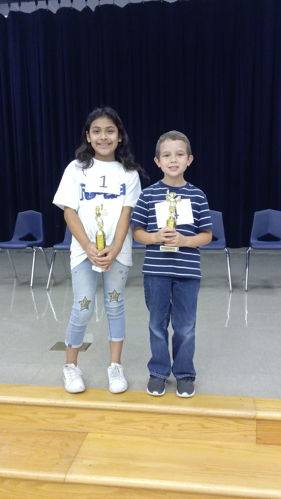 Congratulations to our Elementary Spelling Bee Champion and Runner-Up.