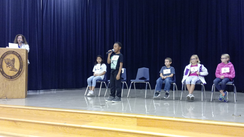 Thanks to our Spelling Bee sponsor Mrs. St. Clair and our participants.