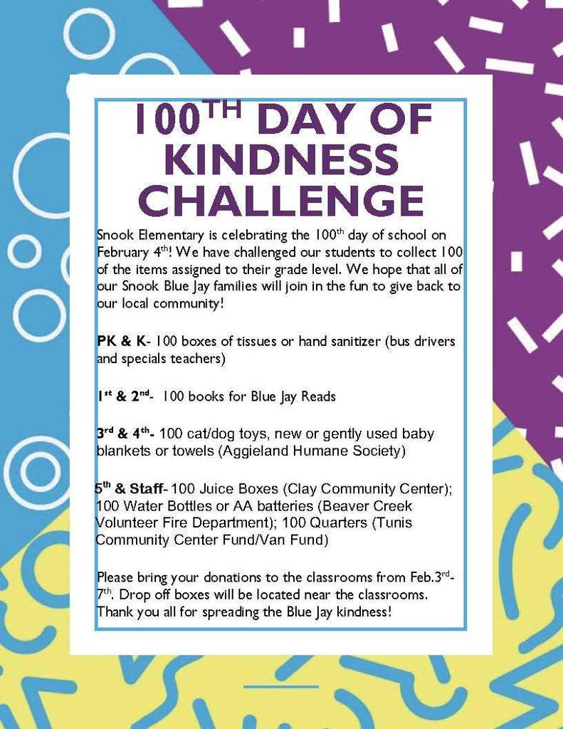 100th day of kindness challenge
