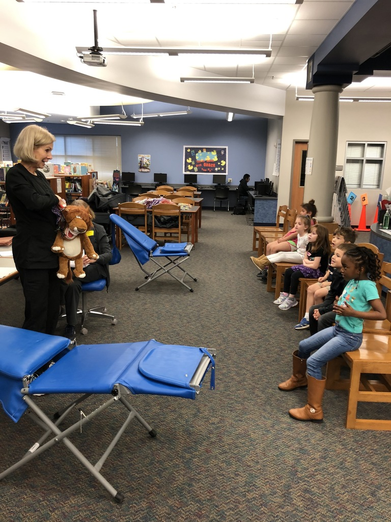 Dr. Anita Albert and Mrs. Diana Bergman visited today as part of the Texas Department of State Health Services to provide FREE Limited Dental Evaluations. Thank you for helping us stay healthy.  Our students were all SMILES!