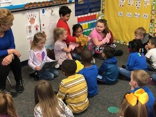 First grade reads The Three Little Pig's and acts out the story for Pre-K with puppets!!!