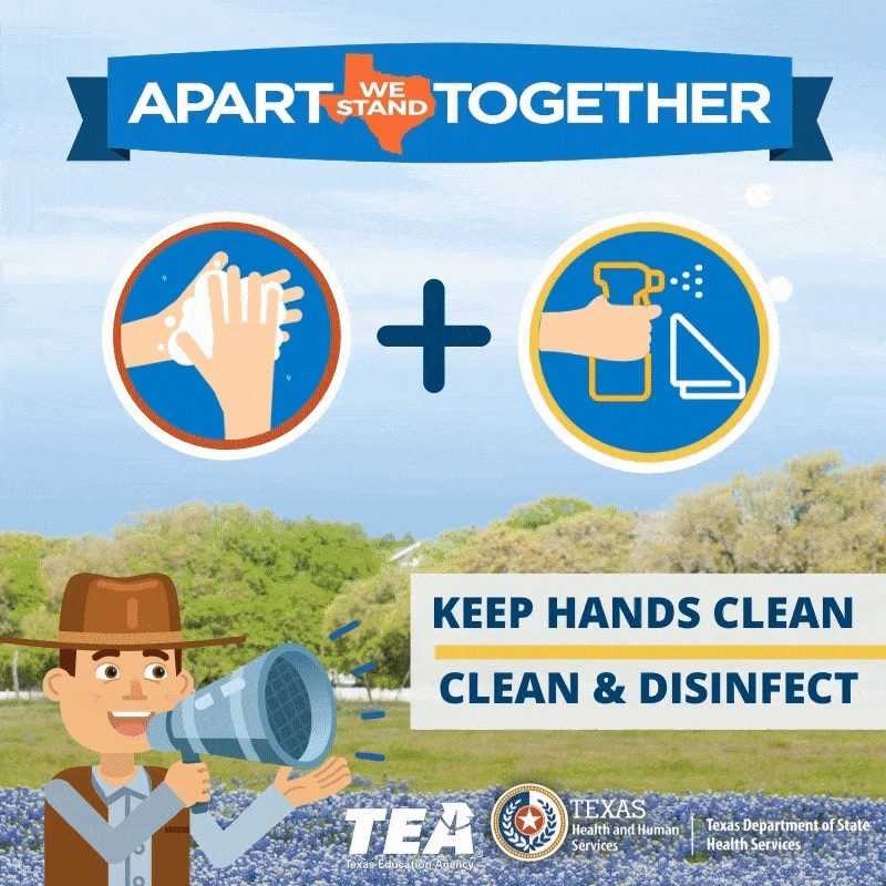 Did you know that washing your hands with soap & water eliminates #Coronavirus molecules preventing the virus from infecting you & others? The same is true when you disinfect surfaces. Science says it works. https://bit.ly/2w7TGAJ #COVID19 #txed #StayWellTexas