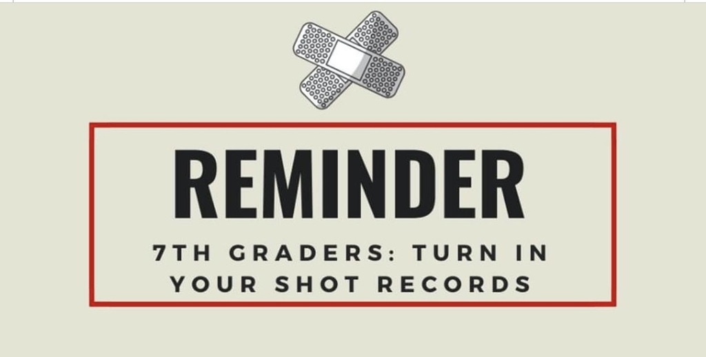 7th grade shots due