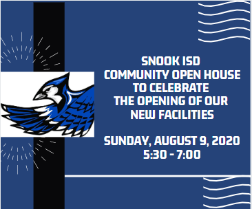 Community Open House Sunday, August 9th 5:30 - 7:00